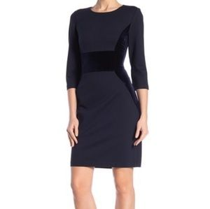 NWT Vince Camuto Velvet Scuba Bodycon  Crepe Dress